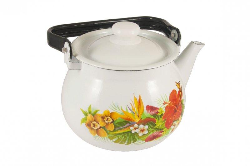 Снимка на Емайлиран чайник като от едно време - 2 литра