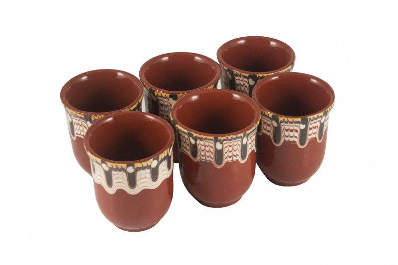 Снимка на Комплект 6 керамични чаши за ракия - аксесоар за мераклии