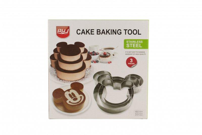 Снимка на Комплект от 3 броя метални рингове за торта Мики Маус