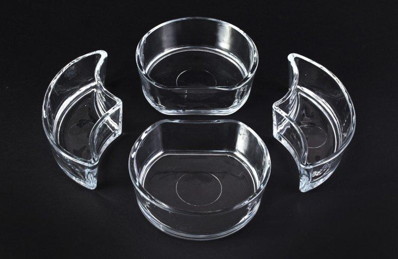 Снимка на Стъклен комбиниран прибор за ордьоври 4+1 чинии, модел Lavin