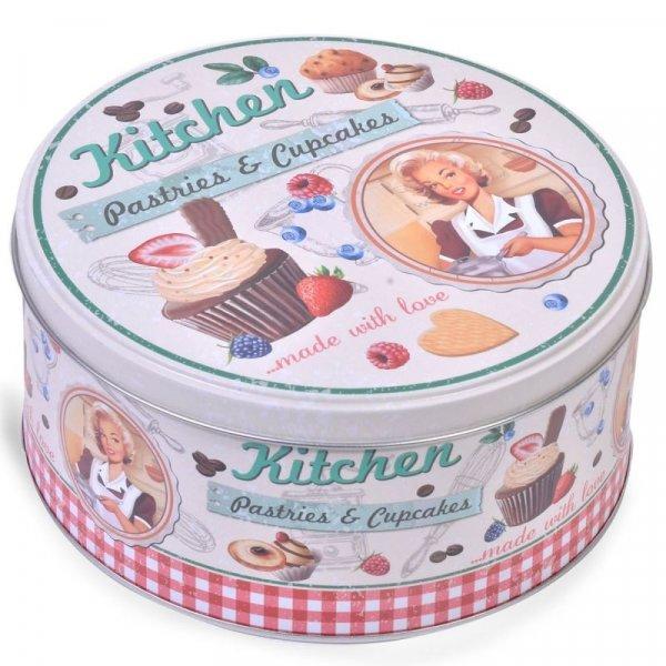 Снимка на Метална кутия за сладки, бисквити и мъфини - Pin-up
