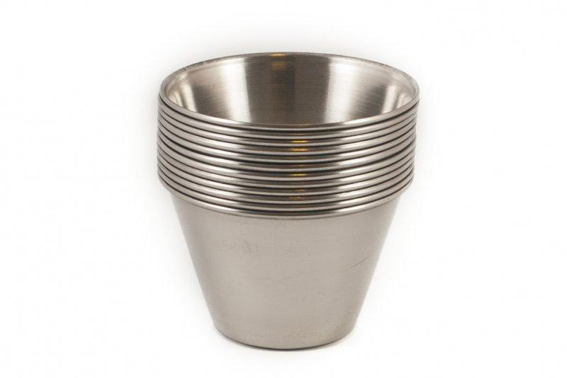 Снимка на Сервиз от 12 метални купички за вкусен крем карамел