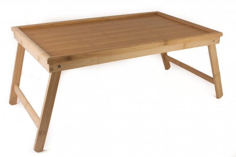 Снимка на Сгъваема бамбукова маса за закуска в леглото
