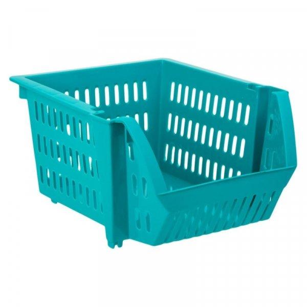 Снимка на Пластмасова кошница за съхранение - синя