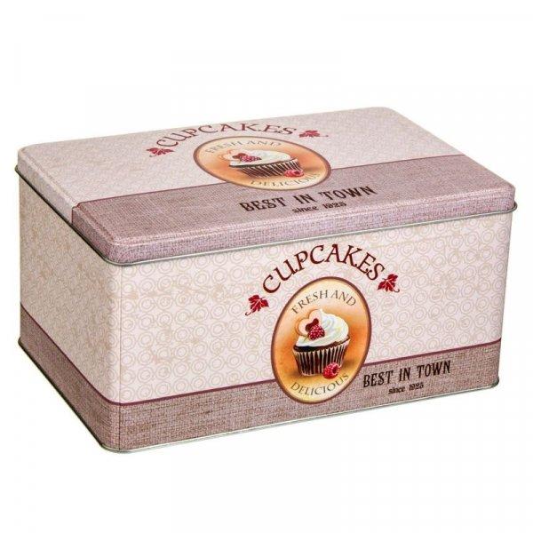 Снимка на Метална кутия за сладки и мъфини - правоъгълна