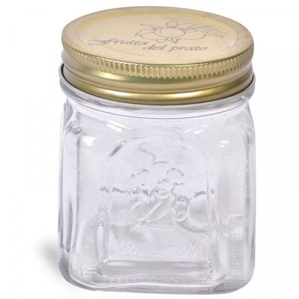 Снимка на Стилен стъклен буркан за сладко - 260 мл