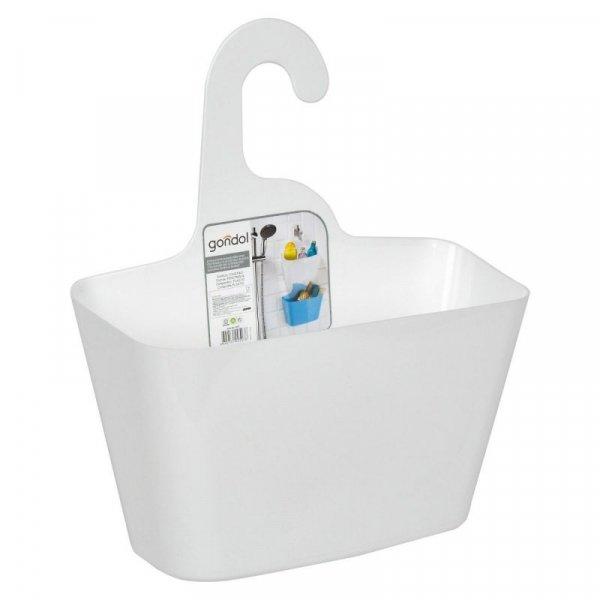 Снимка на Пластмасова кошница за баня - окачваща се - бяла - 28 х 12 х 16 см.