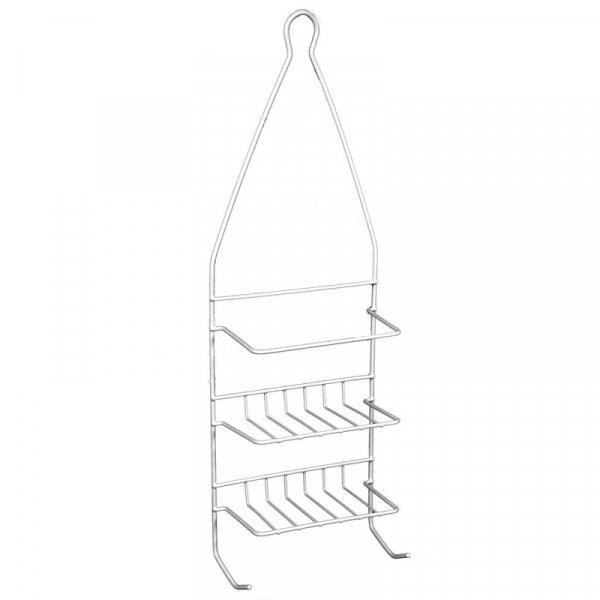 Снимка на Метална етажерка за баня - бяла - 46 см