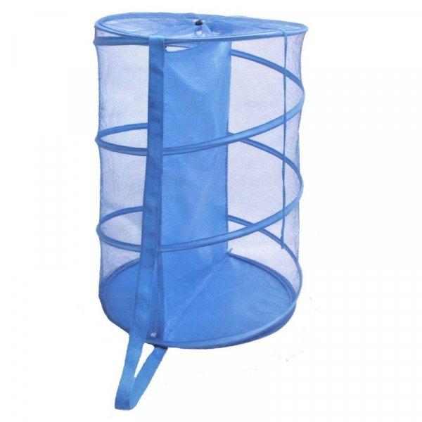 Снимка на Платнен кош за пране - син - 45 х 70 см