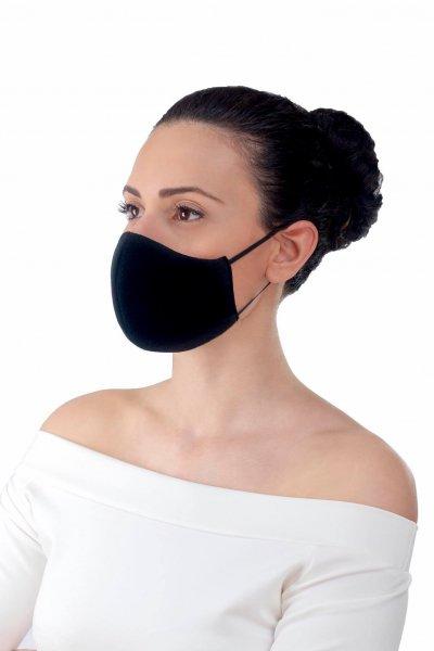 Снимка на 3 броя защитни антибактериални трислойни маски (L-XL)