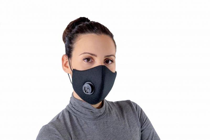 Снимка на 3 броя маски с клапан и антибактериален слой