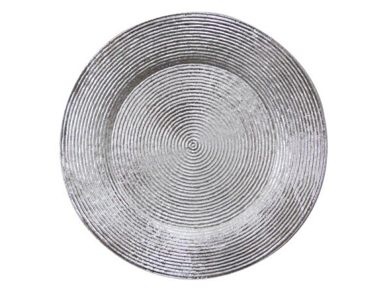 Снимка на Подложна чиния с брокатен ефект ф33