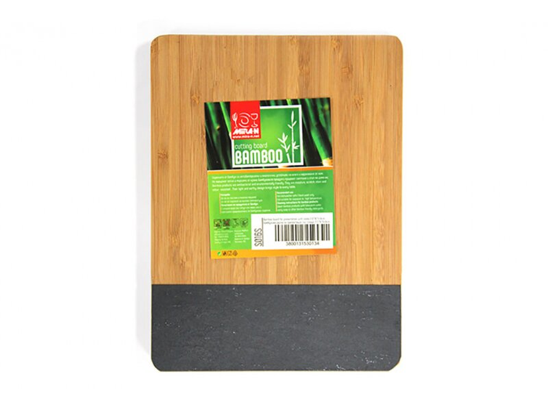 Снимка на Бамбукова дъска за сервиране със слюда - 21 см