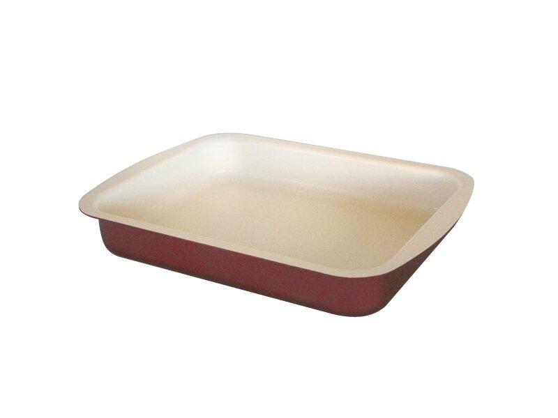 Снимка на Алуминиева правоъгълна тава с керамично покритие 30 см