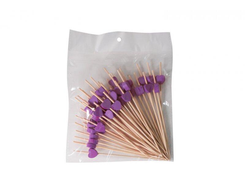 Снимка на Стилни бамбукови клечки за хапки 12 см - 50 бр.