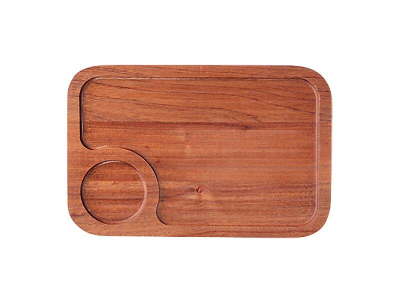 Снимка на Бамбукова дъска за презентация махагон 30см