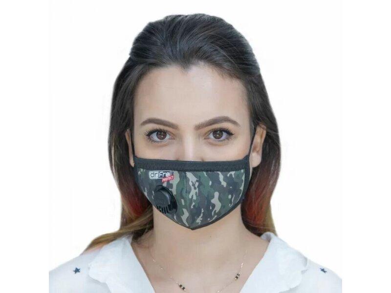 Снимка на Защитна маска с клапан подсилена със сребърни йони (размер XS-M)