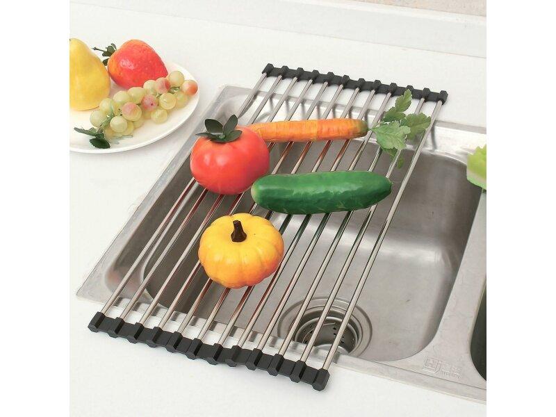 Снимка на Сгъваема поставка за отцеждане за кухня