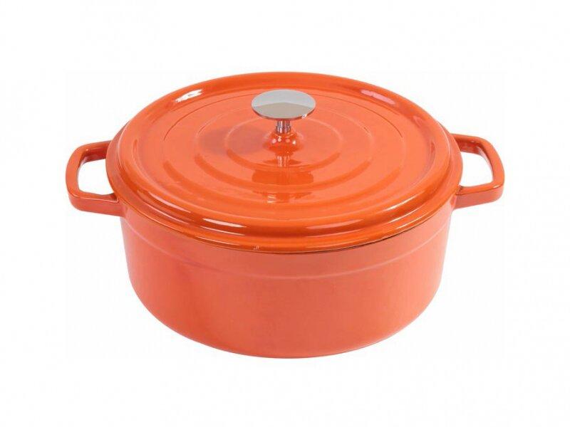 Снимка на Чугунена тенджера с емайлирано покритие 24 см - 3.8 литра