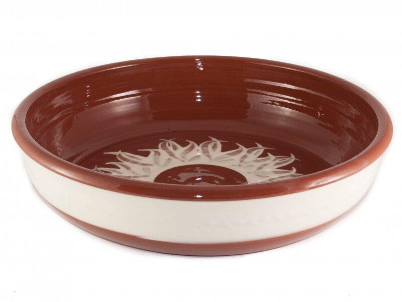 Снимка на Красива кръгла керамична тава Слънце - 35 см