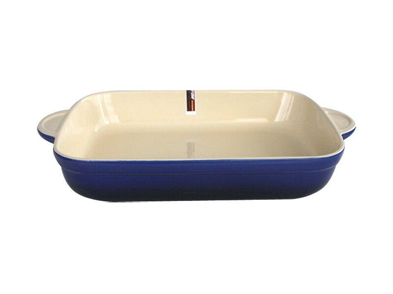 Снимка на Синя правоъгълна керамична тава 39 см