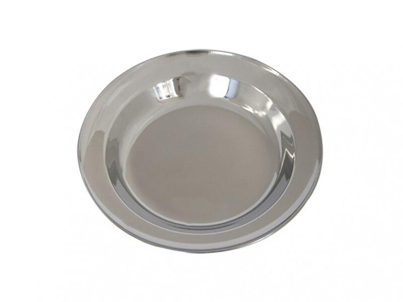 Снимка на Голяма дълбока иноксова чиния - 22 см