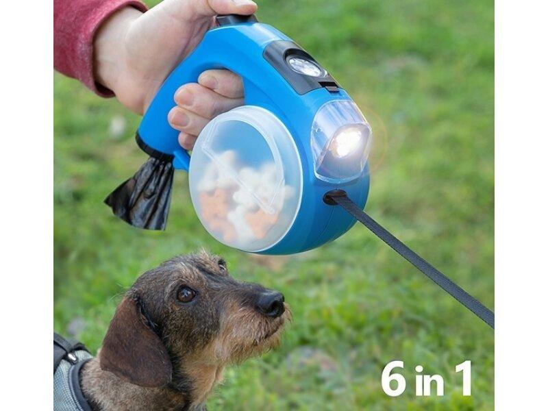 Снимка на Прибираща се каишка за кучета 6в1