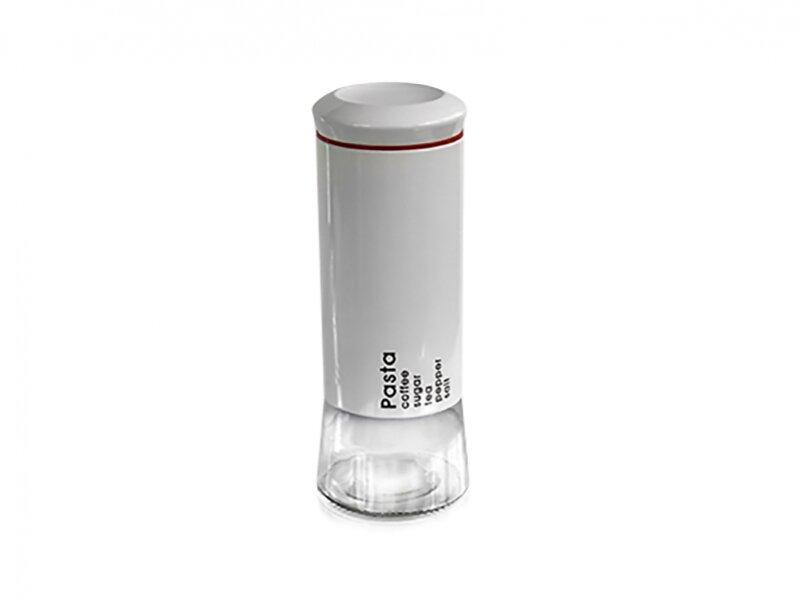 Снимка на Стилен голям бял стъклен буркан - 1.9 л