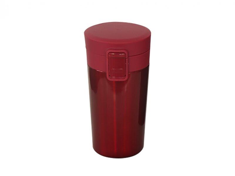 Снимка на Червена термочаша с капак с бутон - 350 мл