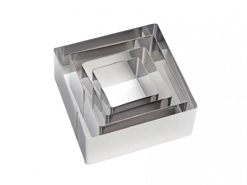 Снимка на Комплект от квадратни иноксови форми за изрязване