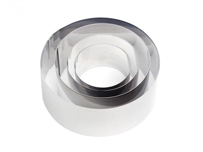 Снимка на Комплект от кръгли иноксови форми за изрязване