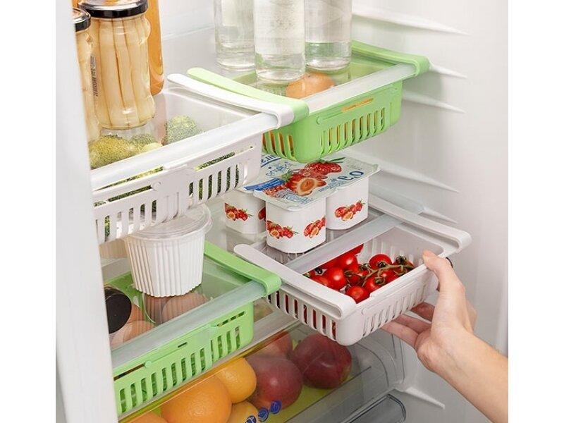 Снимка на Комплект от 2 регулируеми органайзера за хладилник