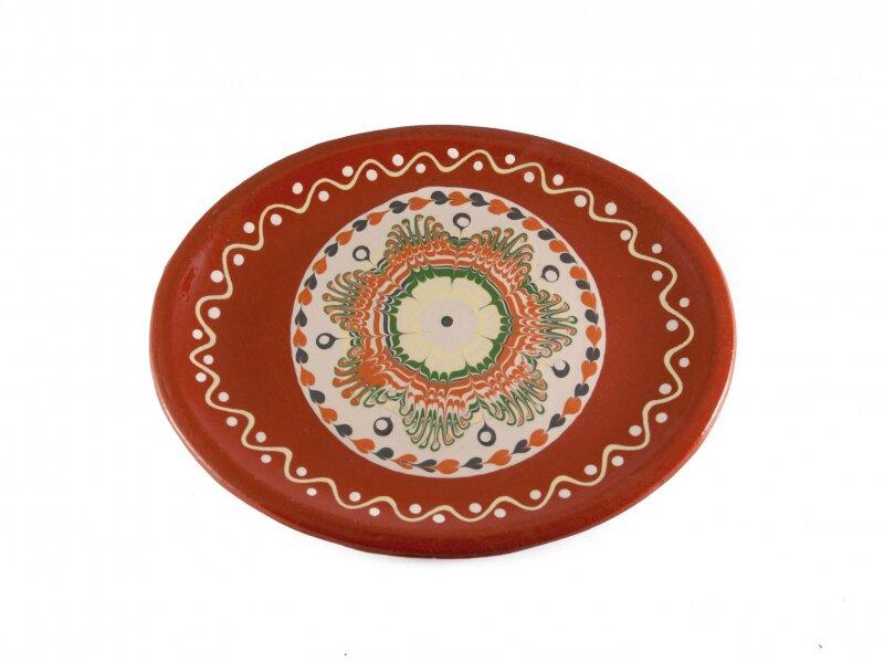 Снимка на Стилно керамично плато - елипса - 27см