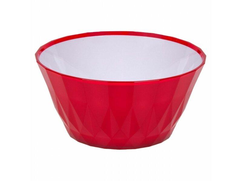 Снимка на Малка червено-бяла пластмасова купа - 700 мл