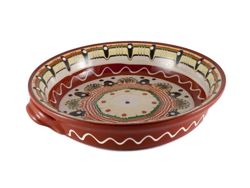 Снимка на Малка керамична тава в различни мотиви - 25см