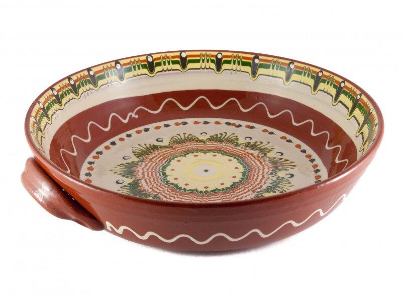 Снимка на Красива керамична тава с различни мотиви - 32.5см
