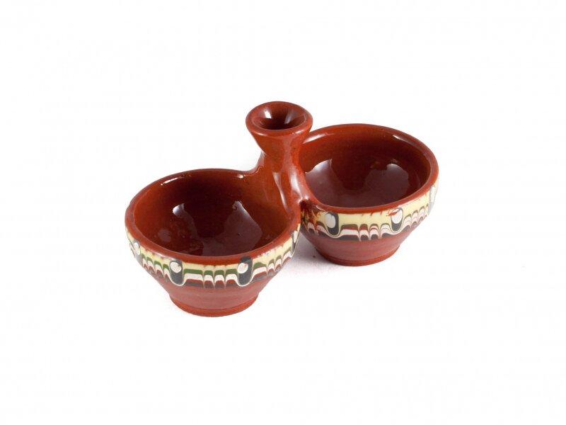 Снимка на Красива керамична солница, двойка